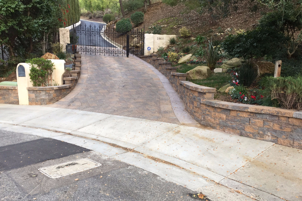 CPF Custom Driveway and Stone Walls in Agoura Hills