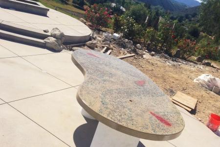 Outdoor Concrete Countertop Progress Shot 2