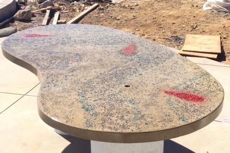 Outdoor Concrete Countertop Progress Shot