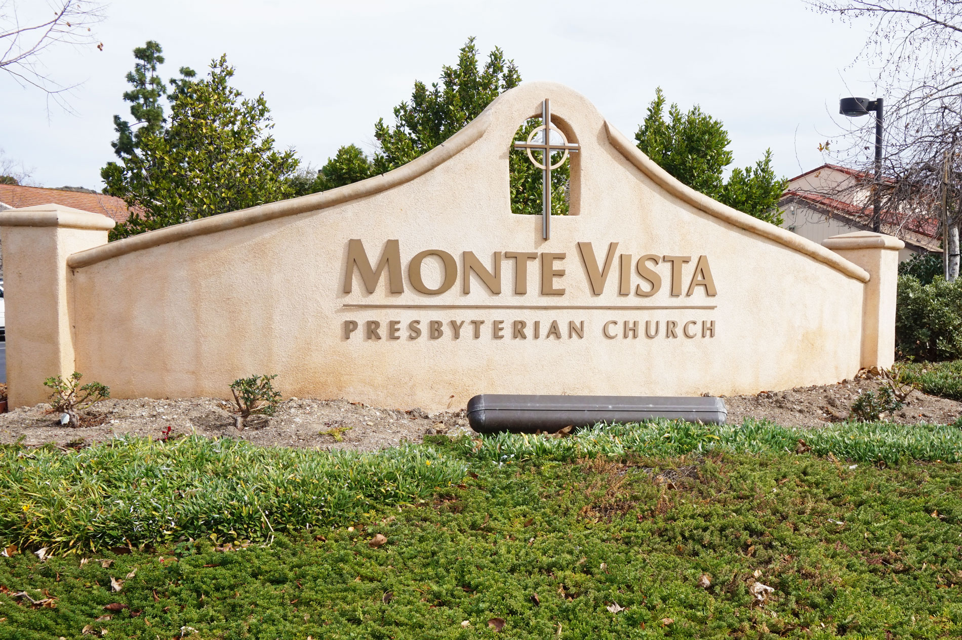 Concrete Commercial Sign at Monte Vista Church