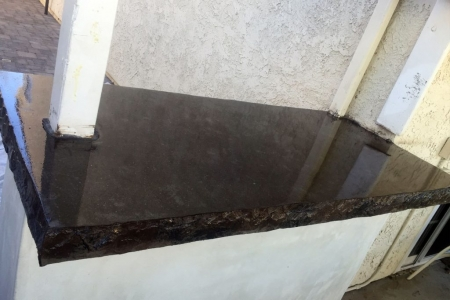 Black Concrete Countertops