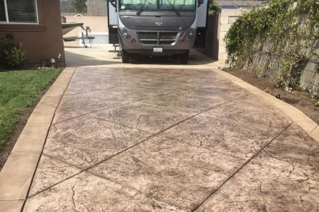 Beautiful Stamped Concrete Driveway
