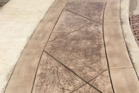 Stamped Concrete Walkway Progress Shot