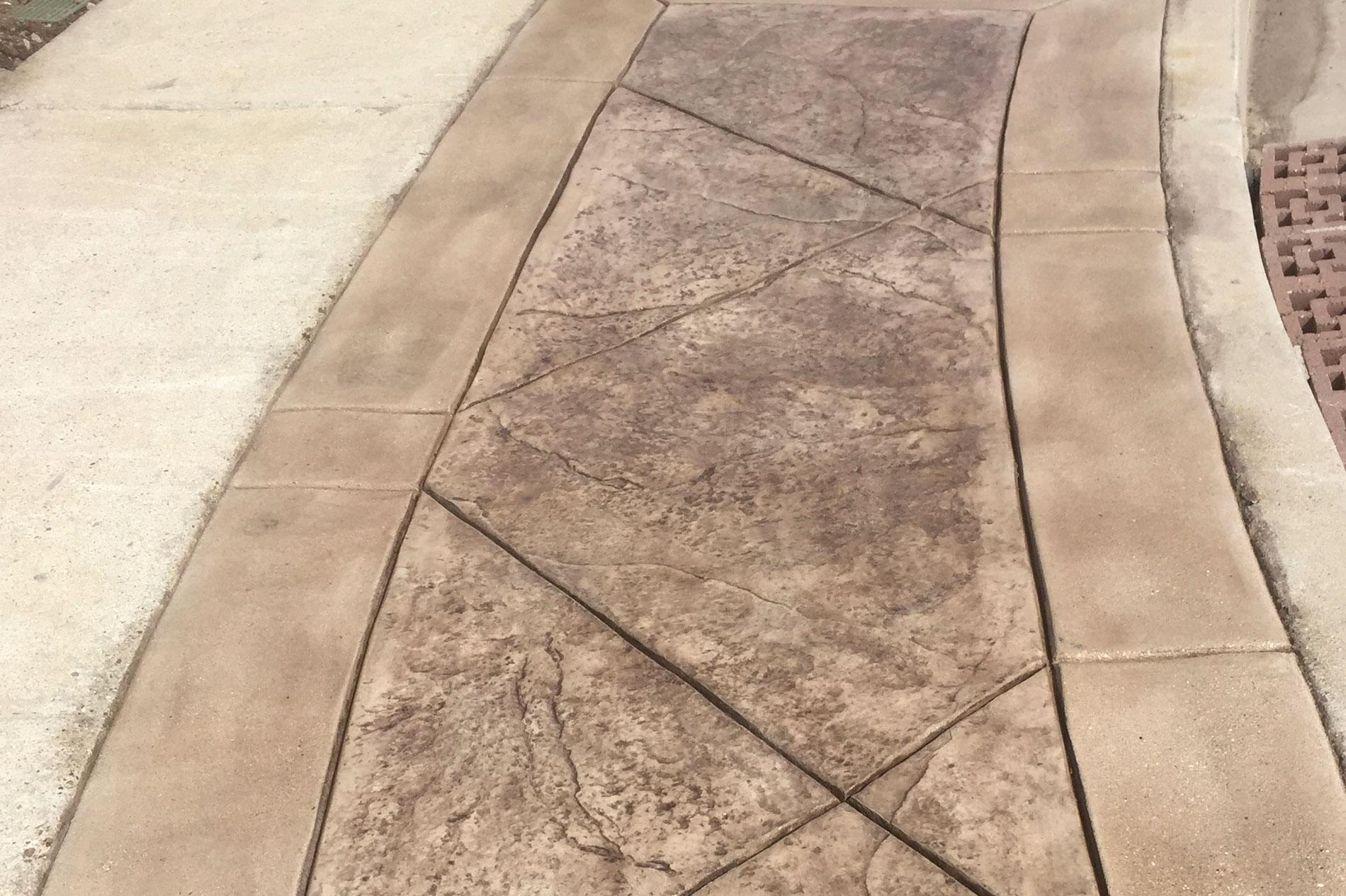 Stamped Concrete Walkway Progress Shot