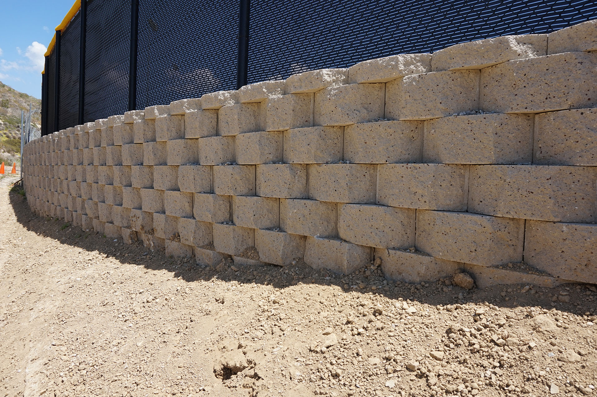 Block Wall Around Entire Baseball Outfield