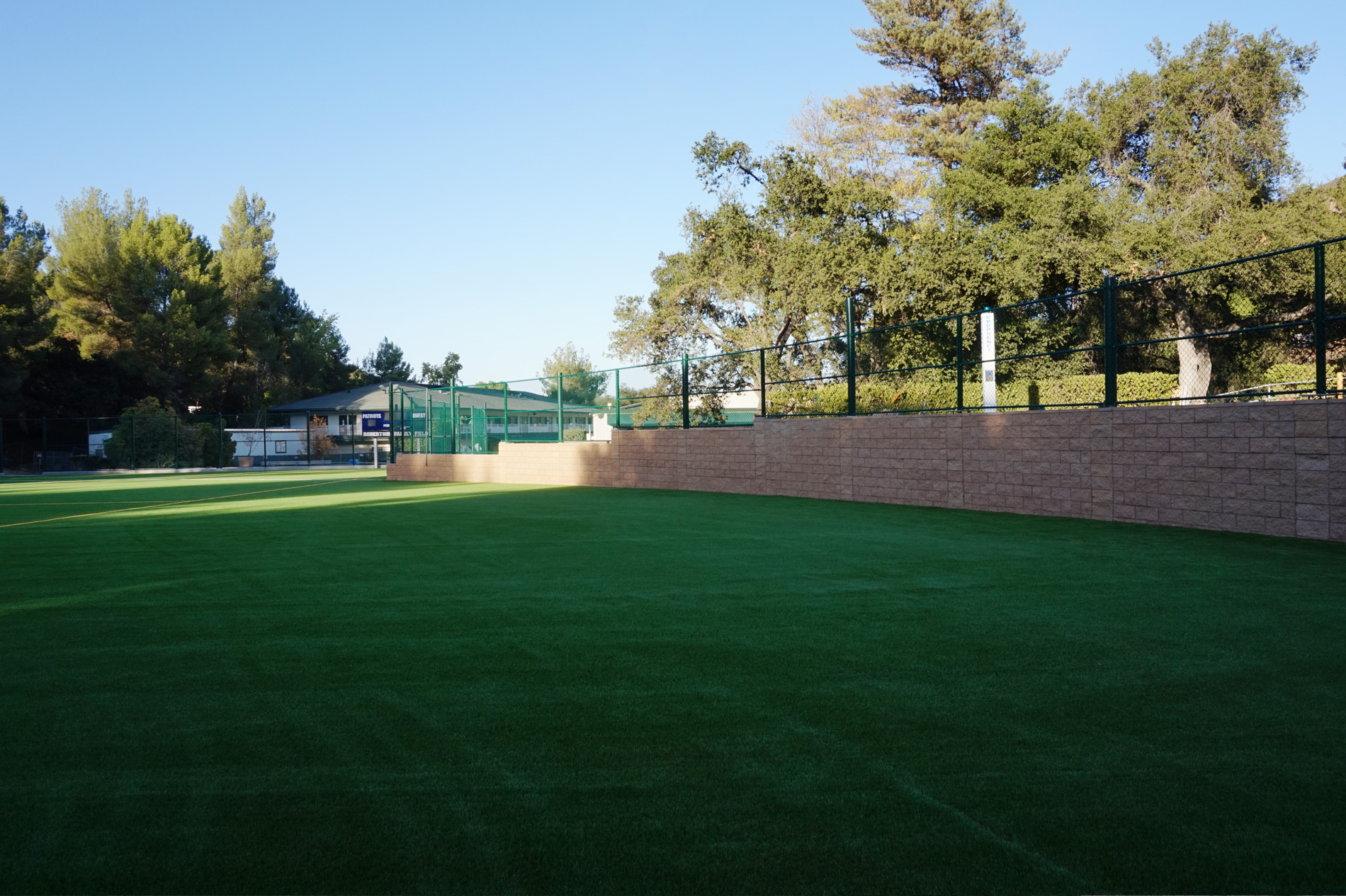 CPF Masonry Outfield Brick Wall Viewpoint School