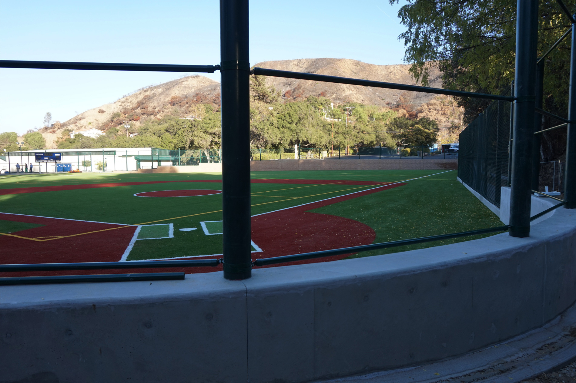 Viewpoint School Robertson Field Backstop by CPF Masonry